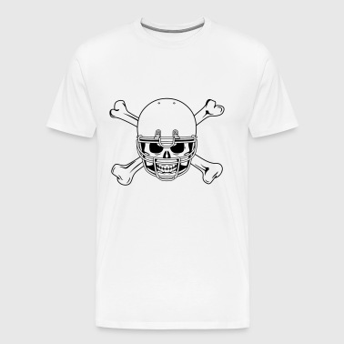 Skull in a helmet - Men's Premium T-Shirt