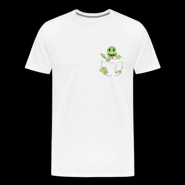 Baby Dino In A Pocket - Men's Premium T-Shirt