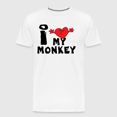 New Year of The Monkey I Love My Monkey - Men's Premium T-Shirt