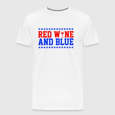 Red Wine And Blue - Men's Premium T-Shirt