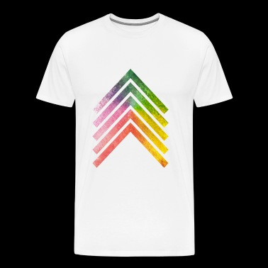 Rainbow Arrow - Men's Premium T-Shirt