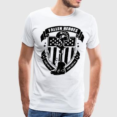 Fallen Heroes Soldier Cross Army Military Patrioti - Men's Premium T-Shirt