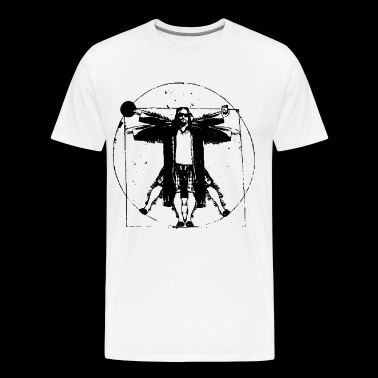 THE BIG LEBOWSKI VITRUVIAN THE DUDE RETRO VINTAGE - Men's Premium T-Shirt