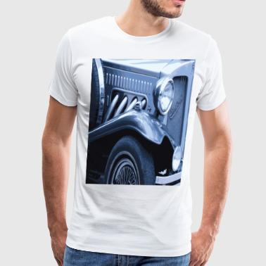 VINTAGE BLUE CAR Pop Art - Men's Premium T-Shirt