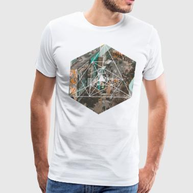 Anime Inspired - Busy Streets in Asia Geometric - Men's Premium T-Shirt