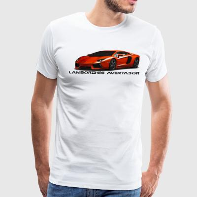 Sleek Lamborghini Aventador - Supercar - Men's Premium T-Shirt