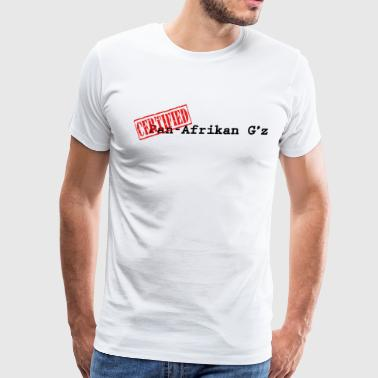 Pan-Afrikan Gz with Certified Stamp - Men's Premium T-Shirt