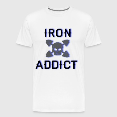 iron addict - Men's Premium T-Shirt