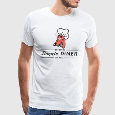 Doggie Diner Logo 1 with NO back color - Men's Premium T-Shirt