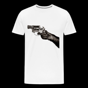Monkey With Gun - Men's Premium T-Shirt