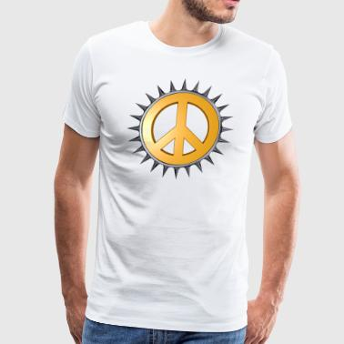 hippiemetal - peace - Men's Premium T-Shirt