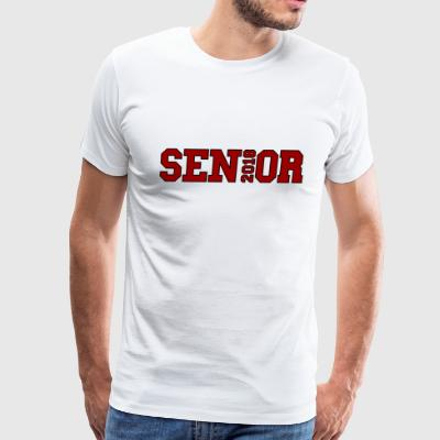 Red Senior Black Outline - Men's Premium T-Shirt