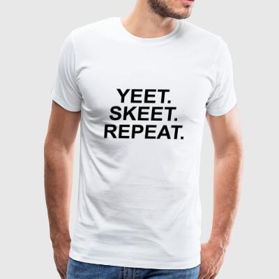YEET design black - Men's Premium T-Shirt