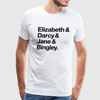 Elizabeth And Darcy And Jane And Bingley Pride And - Men's Premium T-Shirt