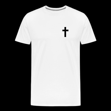 Cross symbol of religion christianity Jesus Christ - Men's Premium T-Shirt