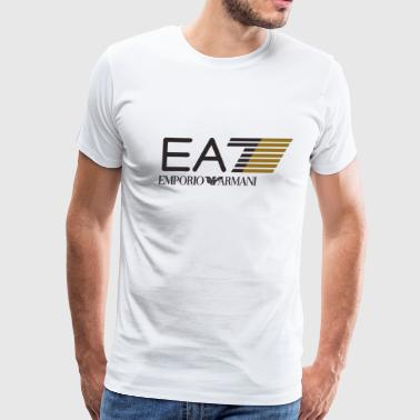 Fake EA7 T-Shirt In Stretch Cotton Jersey - Men's Premium T-Shirt