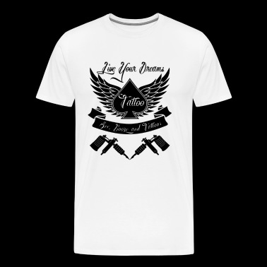 Tattoo Style Mens Vest - Men's Premium T-Shirt