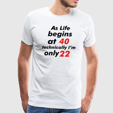 22 birthday design - Men's Premium T-Shirt