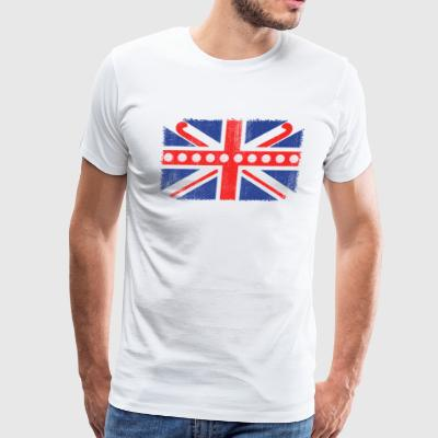 Vintage UK Flag Hockey Balls + Sticks Fieldhockey - Men's Premium T-Shirt