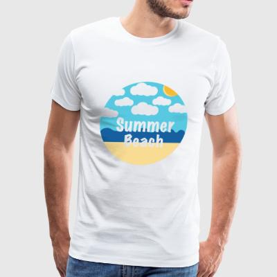 summer beach - Men's Premium T-Shirt