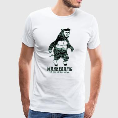 Manbearpig South Park Mythical Beast Funny Vintage - Men's Premium T-Shirt