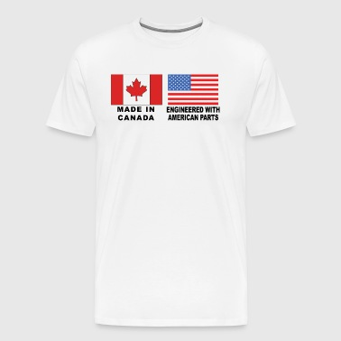 Made In Canada With American Parts - Men's Premium T-Shirt