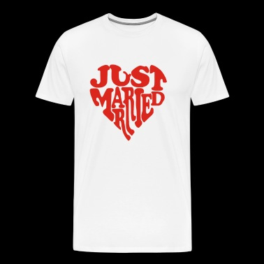 Just Married In Heart Funny - Men's Premium T-Shirt