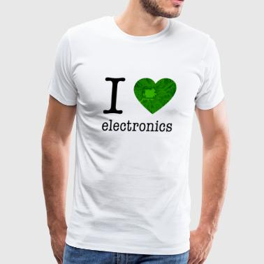 I love Electronics / Gift Idea - Men's Premium T-Shirt