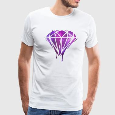Bleeding Melting Dripping GALAXY Diamond - Men's Premium T-Shirt