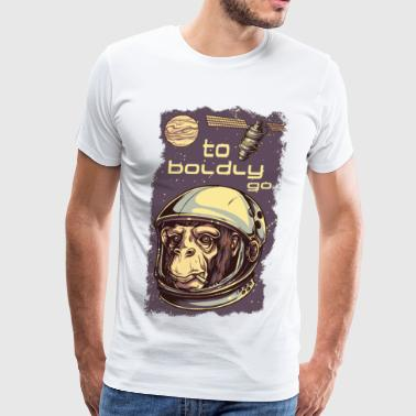 The apes of space - monkey revolution on jupiter - Men's Premium T-Shirt