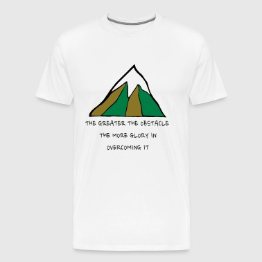 The Glory of Obstacles - Men's Premium T-Shirt