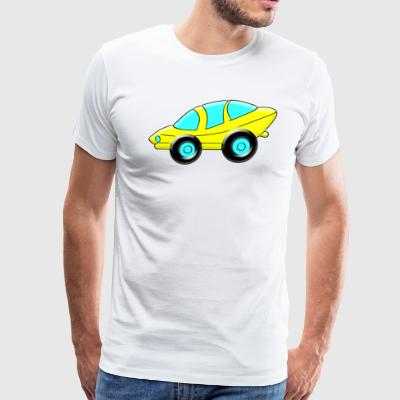 cartoon Sporty Car - Men's Premium T-Shirt