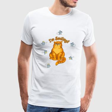 Smiling Cat - Men's Premium T-Shirt