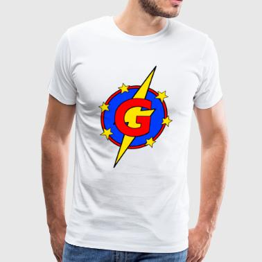 My Little Super Hero Kids & Baby Letter G - Men's Premium T-Shirt