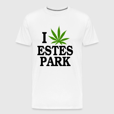 I Love Marijuana Estes Park Colorado - Men's Premium T-Shirt