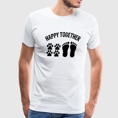 Happy Together With Dog - Men's Premium T-Shirt