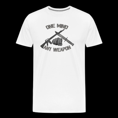 One Mind Any Weapon - Men's Premium T-Shirt