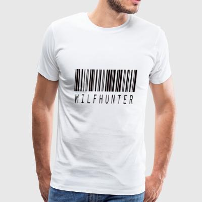 MILFHUNTER BARCODE BLACK - Men's Premium T-Shirt