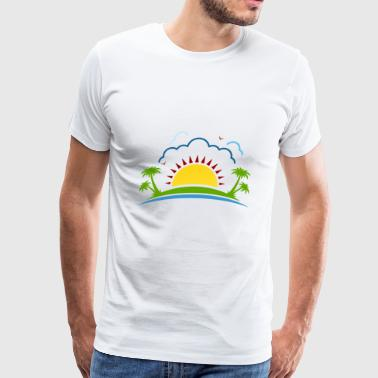 Beach Scenery - Men's Premium T-Shirt