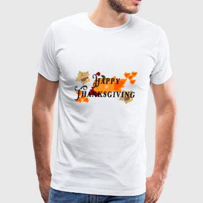 Happy Thanksgiving greeting card - Men's Premium T-Shirt