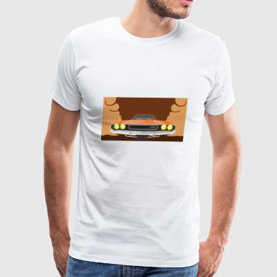 Dodge Car Illustration - Men's Premium T-Shirt