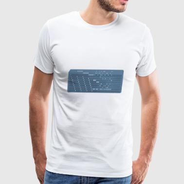 punched card - Men's Premium T-Shirt