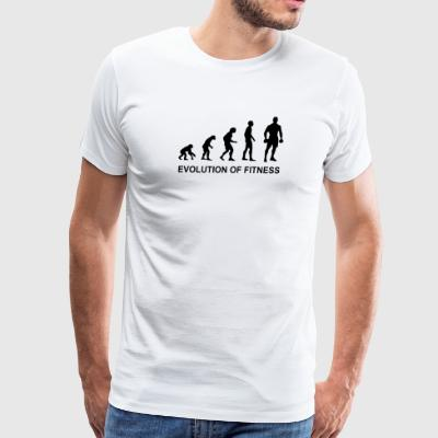 Evolution of Fitness For Workout and Bodybuilding - Men's Premium T-Shirt