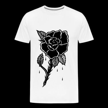 OLD IS COOL BLACK ROSE - Men's Premium T-Shirt