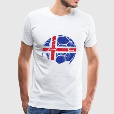 Iceland Soccer Football Ball - Men's Premium T-Shirt