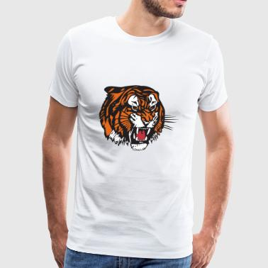 the beast tiger - Men's Premium T-Shirt