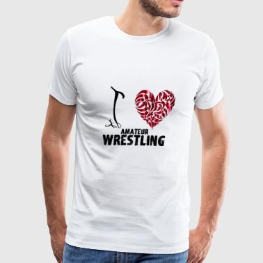 I Love Amateur Wrestling - Men's Premium T-Shirt