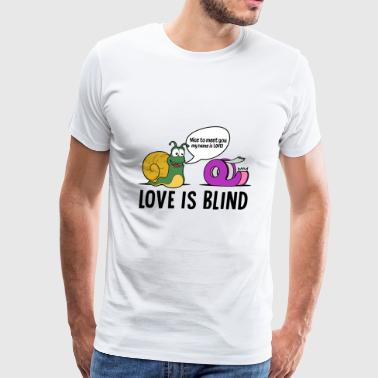 Love is blind design - Men's Premium T-Shirt