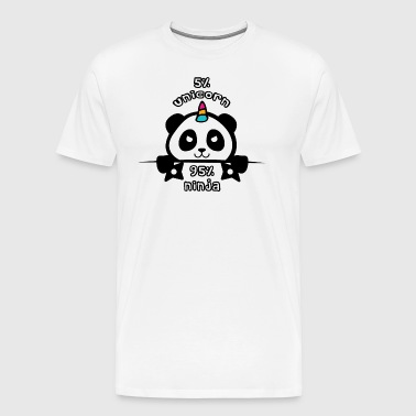 Ninja Panda Unicorn - Men's Premium T-Shirt