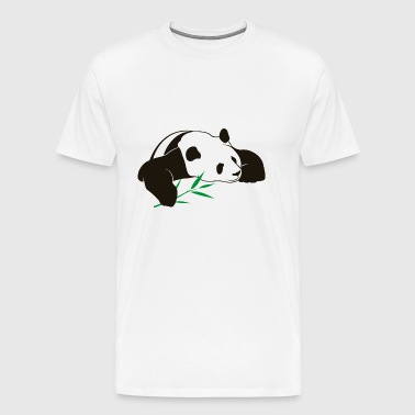 Panda bamboo bear animal wildlife fun vector image - Men's Premium T-Shirt
